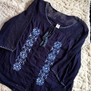 Bila Embroidered Tunic Top